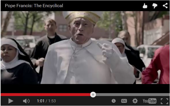 Action scene from Pope Francis: The Encyclical